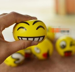 Wholesale Hand Wrist Exercises - Emoji Faces Squeeze Stress Ball Hand Wrist Finger Exercise Stress Relief Therapy - Assorted Styles New Christmas party gifts 36 pcs