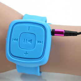 Wholesale Jogging Music Player - Wholesale- Mini Media Jogging Sports Wrist Watch Mp3 Music Player Portable Bracelet Mp 3 Support Micro SD Card USB Flash Musicas Mp3-player