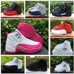 Wholesale Valentine Black - Women Retro 12 GS Hyper Violet Youth Pink Valentines Day 12s Plum Fog Flu Game Basketball Shoes Girls Master Taxi Sneakers wholesale shoe