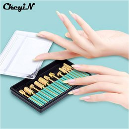 Wholesale Gold Drill Bits - Wholesale- 12Pcs High Quality 2.35mm Gold Nail Drill Bit Grinding Head Bits for Electric Manicure Drills Polish Machine Nail Art Tool S5050