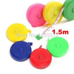Wholesale Tailor Measurements - Newest Sewing Measurement Retractable Cloth Sewing Tailor Crafts Ruler Tape Measure 1.5M 60 Inch
