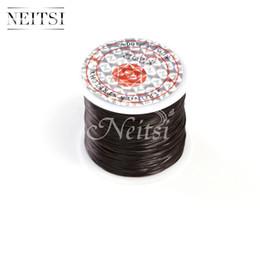 Neitsi Stretchy Élastique Cristal Ligne Bijoux Perles Fil Accessoires De Cheveux Noir # 50 Mètres / pc 5pcs / lot ? partir de fabricateur