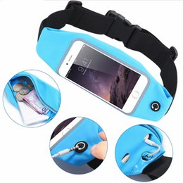 Wholesale chinese belts - Univeral Waterproof Sports Running Waist Pocket Belt Case Waistband Pocket For iPhone 7 6 6S Cover Bag