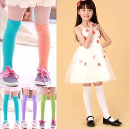 Wholesale Dance Tights - kids candy color socks tights for girls Kids Girls Velvet Dance Leggings Trousers Candy Color girls knee high socks free shipping in stock