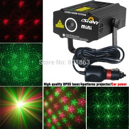 Wholesale Car Light Show - Wholesale- Car used plug Mini R&G Butterfly 4 patterns laser Projector field outdoor garden hillside Park Party effect Stage Light Show CR4