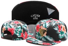 Wholesale Strap Snap Back - Beautiful Flower New Design Snapback Hats 5 Panel Strap back Cayler & Sons Snapbacks Snap back Hip Hop Adjustable Men Caps