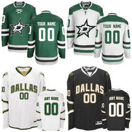 Wholesale Cheap Custom Embroidery - Custom Customized Men's Dallas Stars Jerseys Authentic personalized Cheap Hockey Jerseys Any Number & Name Embroidery Logos