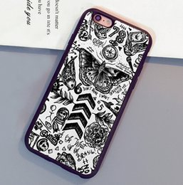 Wholesale Iphone 4s One Direction - Cool One Direction Tattoo Printed Phone Cases For iPhone 6 6S Plus 7 7 Plus 5 5S 5C SE 4S Back Cover
