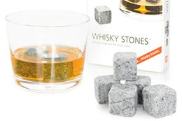 Wholesale Mold Stones - Kitchen Gadgets stone cube Shape Stainless Steel Whiskey Ice Cubes Cooler Stone Wine Beer Cooling Tray Mold Ice Mould