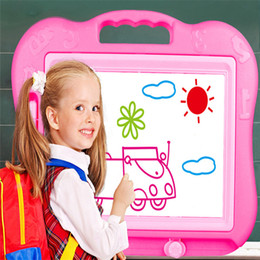 Wholesale Magnetic Writing Board Toy - Wholesale- Education Children Kid Magnetic Writing Painting Drawing Graffiti Board Toy Preschool Tool Dropshipping Free Shipping M24