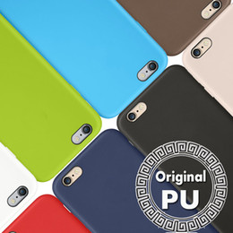 Wholesale Hard Leather Iphone Case - For iPhone 7 Case Original PU Leather Case Official Style Ultra Thin Slim Hard Cover For Iphone 7 Plus 6S 6 4.7 5.5 SE 5S 5 Free Shipping
