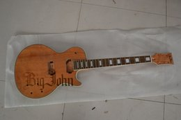 Wholesale Diy Unfinished Guitars - free shipping new Big John unfinished electric guitar in natural color diy your guitar F-1196