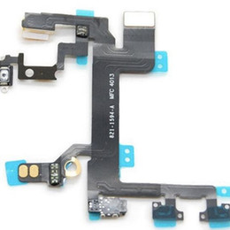 Wholesale Flashing Power Button - 100% Original For Iphone 5 5S 5C 6 6 Plus Power Volume Flash Mute Switch Button Control Flex Cable With Microphone for iphone 5g 5s 5c 6plus