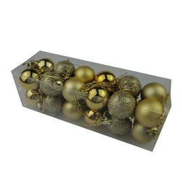 Wholesale Glitter Ball Ornaments - Wholesale-24PCS  Lot Colorful Christmas ball glitter baubles Ball Bauble Hanging Xmas Party Ornament For Home Glitter festive decoratio