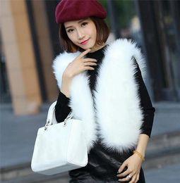 Wholesale winter coat women small - Wholesale and retail Imitation fur coat new small coat vest 2017 Autumn and winter imitation fox fur fur vest short jacket women clothing