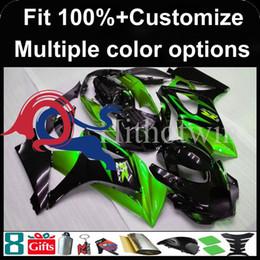 Nachrüstkunststoffe online-Spritzgießwerkzeug grün schwarz Aftermarket Motorradverkleidung für Suzuki GSXR1000 2007-2008 07 08 GSXR1000 2007 2008 07-08 ABS-Kunststoff Verkleidung