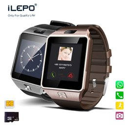 Wholesale Wristwatch Camera Phone - Smart Watches DZ09 cell phone Bluetooth Smartwatch With SIM TF Slot Camera Wristwatch Clock for IOS Android Phone PK U8 GV18 gt08