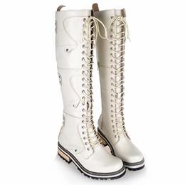 Wholesale women wearing fur heels - England Preppy Style Winter Add Wool Keep Warm Women Knee-High Boots Pointed Toe Elegant Wear Well Knight Boots Large Size