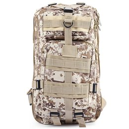 Wholesale tactical rucksacks - 9 Color Unisex Outdoor Military Army Tactical Backpack Trekking Travel 30L Rucksack Camping Hiking Trekking Camouflage Bag B02