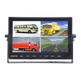 Wholesale Truck Bus Rear Cameras - 10 Inch Rear View Monitor Car Monitor Split Quad Display for Car Truck Bus Reversing Camera