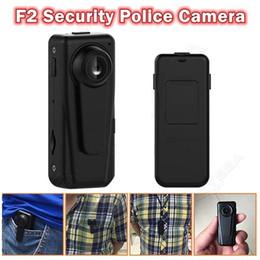 Wholesale Auto Police - F2 Security police camera HD 1080P Night Vision Patrol Guard Recorder Body Pocket Mini DVR 140° wide auto cycle recording
