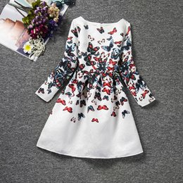 Wholesale Girl Dress Longsleeve - 2017 spring autumn designs kids clothes longsleeve children girl dress wholesale baby clothes
