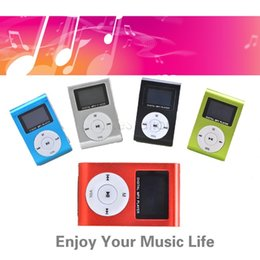 Wholesale Drop Ship Music - Wholesale- Hot Sale LCD Metal High Quality Clip Mp3 Music Player With Card Slot Mini Mp3 Player FM Radio 5 Colors Drop Shipping#7 51