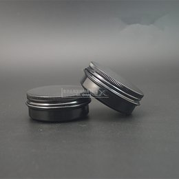 Wholesale Tin Candles Wholesale - Wholesale- Free shipping 30ML black color aluminum tins, 30g aluminum jars for cosmetics, candle, cream, mask, bath salt