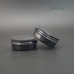 Wholesale Candle Tins - Wholesale- Free shipping 30ML black color aluminum tins, 30g aluminum jars for cosmetics, candle, cream, mask, bath salt