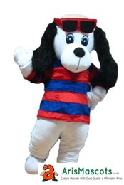 Wholesale White Dog Mascot Suit - 100% real photos new white dog with glasses mascot suit costume outfit dress custom animal mascots advertising custom fur mascotte