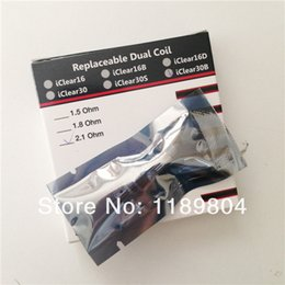 Wholesale Iclear Replacement Coil Head - Wholesale- Original innokin replacable dual coil head replacement heads for i clear 16 clearomizer iclear 30 tank iclear 30s iclear 30b x.i