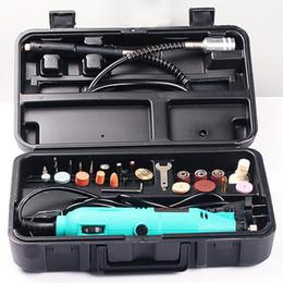 Wholesale Variable Speed Electric Dremel Rotary Tool - 180W Mini Grinder Electric Variable Speed Sander Polisher Dremel Rotary Drill Tools Grinding Machine lixadeira Polisaj Makine