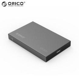 Orico 2.5 on-line-Atacado-Original ORICO Alumínio de Alta Velocidade 2.5 polegadas Gabinete USB 3.0 Sata 3.0 Ferramenta Livre HDD SSD Caso Portátil