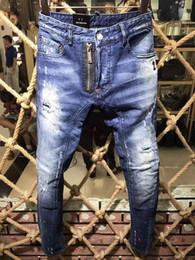 Wholesale Men Paint Jeans - High quality 2017 new Brand men d2 jeans,Painted Print jeans, Fashion jeans men calca jeans dsq 100% cotton denim men trousers hot sell A153