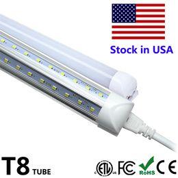 Wholesale high lumen smd led - High Lumen T8 LED Tube 6500K Integrate V Shaped 4ft 5ft 6ft 8ft 8 feet Double T8 Tube Light Cooler Door Lighting