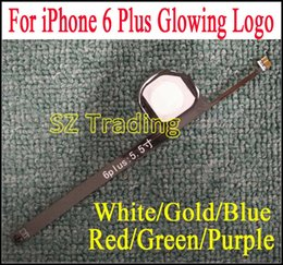 Wholesale Light Logo Back - For iPhone 6 Plus Flashlight Glowing Logo DIY Luminescent LED Light Logo Mod Kit for iPhone6 Plus Back Housing