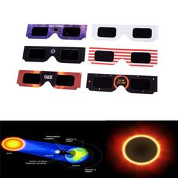 Canada 2019 USA Lunettes solaires Eclipse en verre Lunettes de vue en verre solaires Protégez vos yeux en toute sécurité le 21 août DHL cheap eye glasses fast Offre