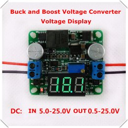 Wholesale Step Up Down - Wholesale-home automation modules Voltmeter DC-DC Step up down Power Supply boost  buck voltage converter LM2596&LM2577 5-25V