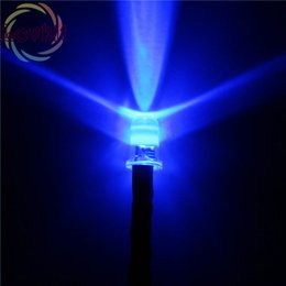 Wholesale Wired Blue Led 5mm - Wholesale- 20pcs 5MM 12v Pre-Wired Resistor Blue LED Bright Round Top 12V DC 20cm Emitting Diode DIY For car Lamp High Quality Retail