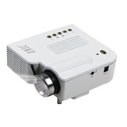 Video player de entrada on-line-Atacado-unic preto hd1080p uv28 + projetor mini led digital de vídeo game projetores de entradas multimídia player av vga usb sd hdmi