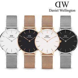 Wholesale Strip Women - New Fashion Girls Steel strip Daniel watches 32mm women watches Luxury Brand Quartz Watch Clock Wrist watches Relogio Feminino Montre Femme