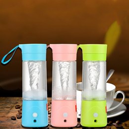 Wholesale Usb Charger Ce Eu - Fruit Blender Juicer, Mixing Machine, Portable Electric Rechargeable Mixer, Blender, Water Bottle 380Ml With USB Charger Portable