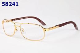 Wholesale Buffalo Carving - New Rimmed Glasses Frame Wooden Buffalo Horn Glasses Brand Optical Eyeglasses Men Women Gold Silver Wood Glasses Carving Eyewear