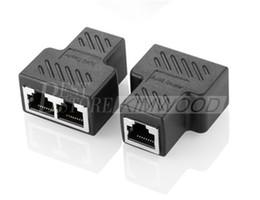 Connettore ethernet di rete online-Connettori RJ45 Splitter da 1 a 2 vie Interfaccia cavi Ethernet Presa RJ-45 8P8C HUB Rete LAN Internet PC laptop router c