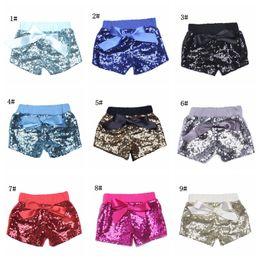 Wholesale Baby Dance Clothes - Baby Sequins Shorts Pants Casual Pants Fashion Infant Glitter Bling Dance hot pants Boutique Bow Princess Shorts Kids Clothes 14 color 17-33