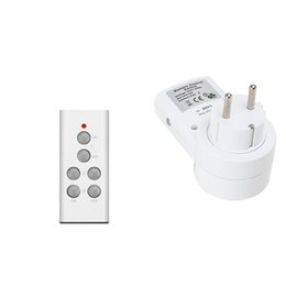 Wholesale remote electrical - Wholesale-1 to 1 or several smart home control socket,EU standard RF 433 MHz remote radio control,learning code EV1527 Electrical Outlet