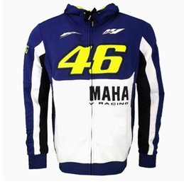 Wholesale Men S Moto Jacket - 2017 New MOTO GP Valentino Rossi Racing Jackets The Doctor VR46 Hoodies Cotton Motorcycle VR 46 Casual Sports Sweatshirts