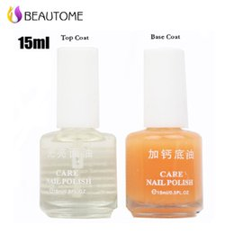 Wholesale Bottles Set Quality Nursing Calcium Treatment Base Coat Polish ml Nail Art Care Manicure Salon Tool For Nail Art