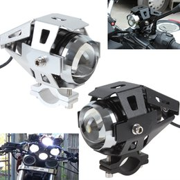 Wholesale Visible Led - DHL Universal 125W 3000LM Waterproof 200M Visible CREE U5 LED Motocycle Driving Headlight Fog Lamp Boat Truck Spotlight with Wrench MOT_216