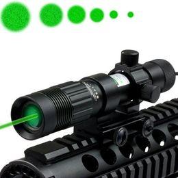 Wholesale Green Laser Flashlight Designator - Tactical 20mW Green Laser Sight Adjustable Green Laser Designator Flashlight Illuminator Hunting Laser Sight With 21mm Rail